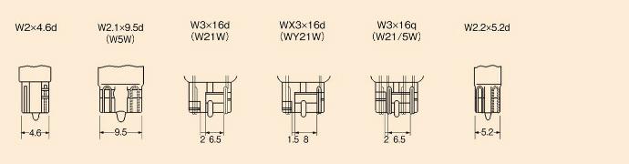 ガラス球・フィラメント・口金一覧|種類と特性|ランプの基礎知識|株式会社小糸製作所|市販製品情報